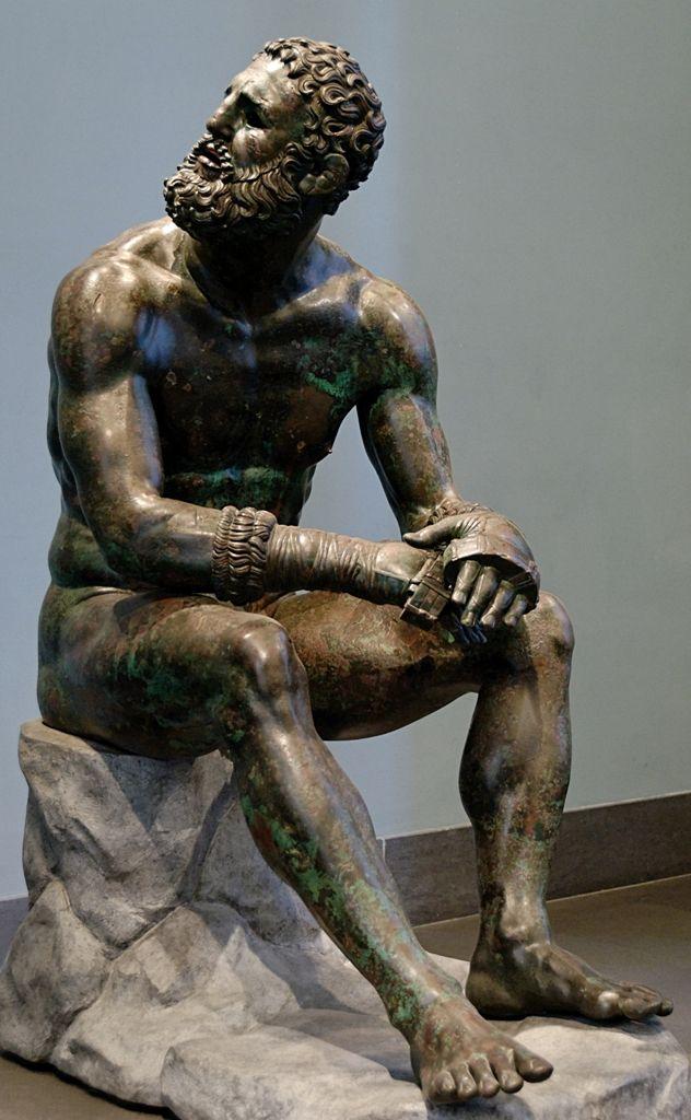 "The Roman-era bronze statue of ""The Pugilist at Rest"""