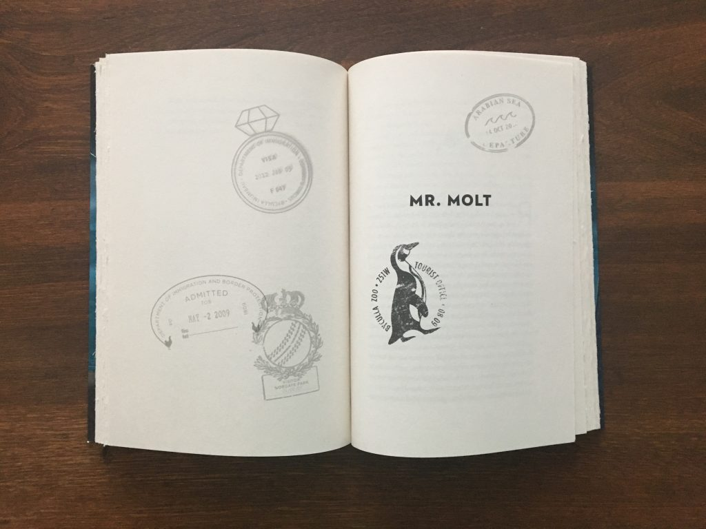 """The title page for """"Mr. Molt"""""""